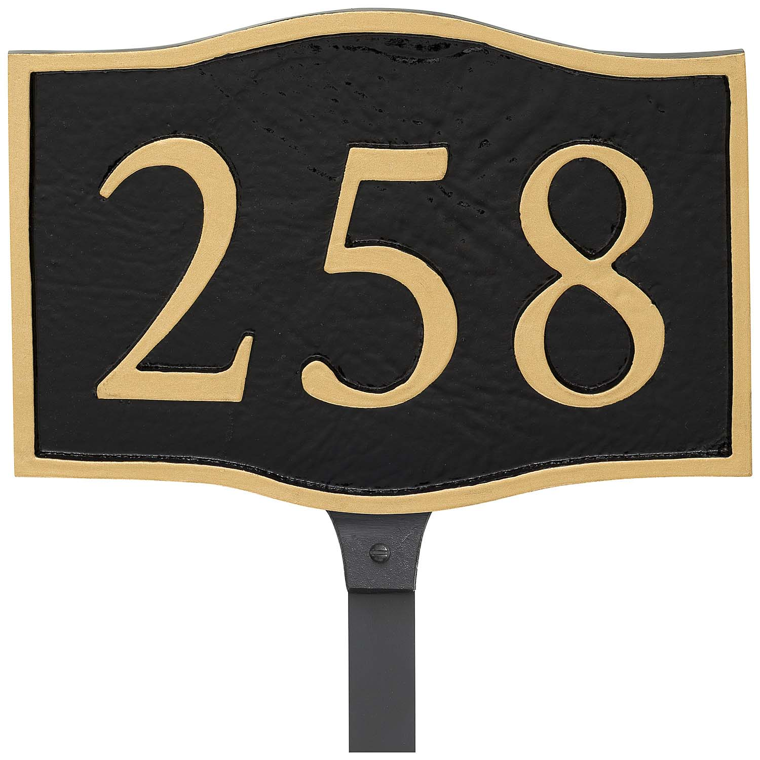 Double Arch Serif Economy Address Plaque (holds up to 3 characters)