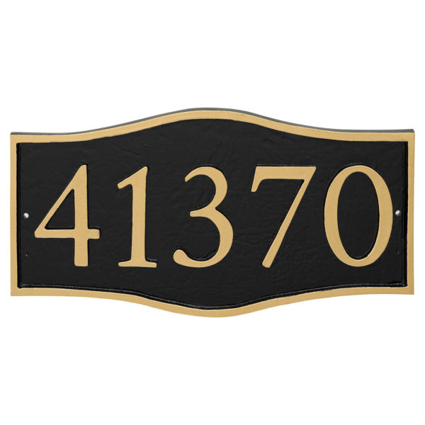 Double Arch Serif Economy Address Plaque (holds 5 characters)
