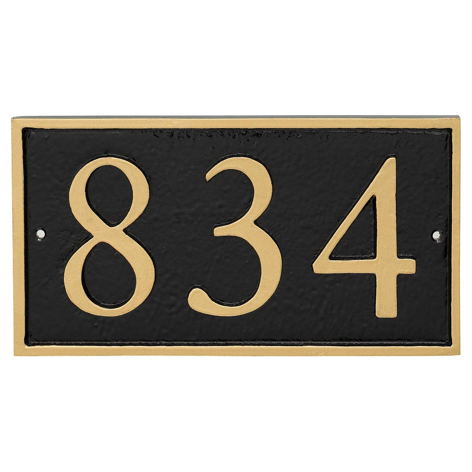 Rectangle Serif Economy Address Plaque (holds up to 3 characters)