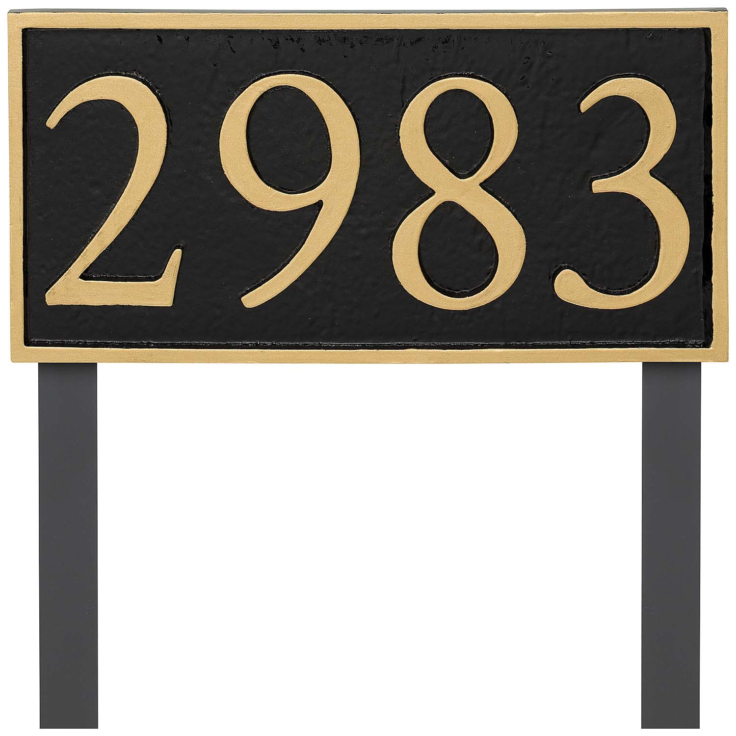 Rectangle Serif Economy Address Plaque (holds up to 4 characters)