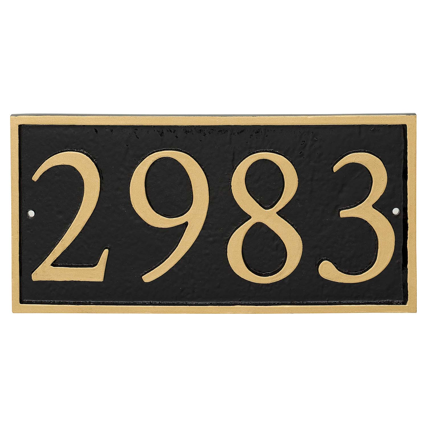 Rectangle Serif Economy Address Plaque (holds 4 characters)