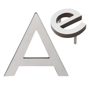 """10"""" Individual Antique Copper Satin Nickel Two-Tone Modern Floating Letters A-Z"""