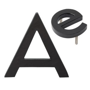 """10"""" Individual Black Powder Coated Aluminum Modern Floating Letters A-Z"""