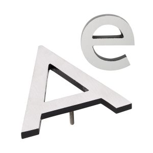 """10"""" Individual Black Satin Nickel Two-Tone Modern Floating Letters A-Z"""
