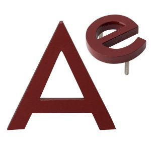 """10"""" Individual Brick Red Powder Coated Aluminum Modern Floating Letters A-Z"""