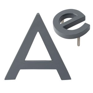 """10"""" Individual Gray Powder Coated Aluminum Modern Floating Letters A-Z"""