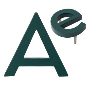 """10"""" Individual Hunter Green Powder Coated Aluminum Modern Floating Letters A-Z"""