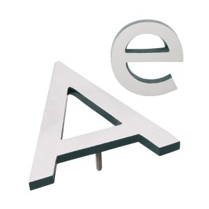 """10"""" Individual Hunter Green Satin Nickel Two-Tone Modern Floating Letters A-Z"""