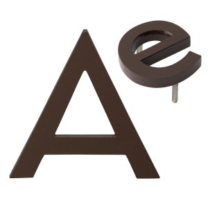 """10"""" Individual Roman Bronze Powder Coated Aluminum Modern Floating Letters A-Z"""