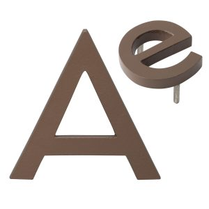 """10"""" Individual Sand Powder Coated Aluminum Modern Floating Letters A-Z"""